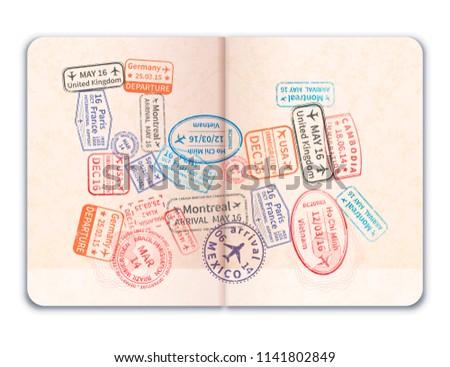 Gerçekçi açmak yabancı pasaport çok parlak Stok fotoğraf © evgeny89
