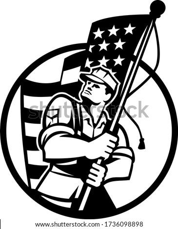 Americano patriota soldato USA star Foto d'archivio © patrimonio