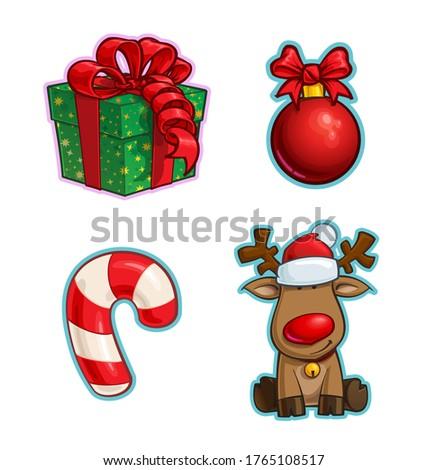 Christmas cartoon geschenk bal snoep Stockfoto © nazlisart