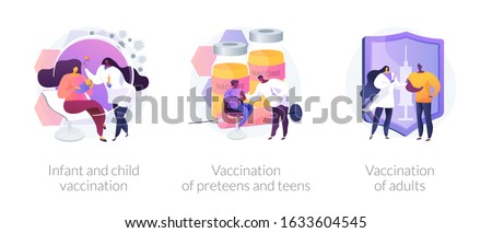 Vaccination of preteens and teens abstract concept vector illustration. Stock photo © RAStudio