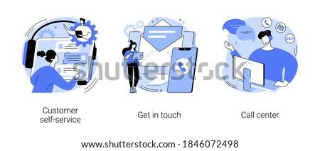 Getting in touch vector concept metaphor Stock photo © RAStudio
