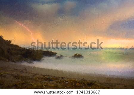 vista · fuera · mar · blanco · vacaciones · cielo - foto stock © duoduo