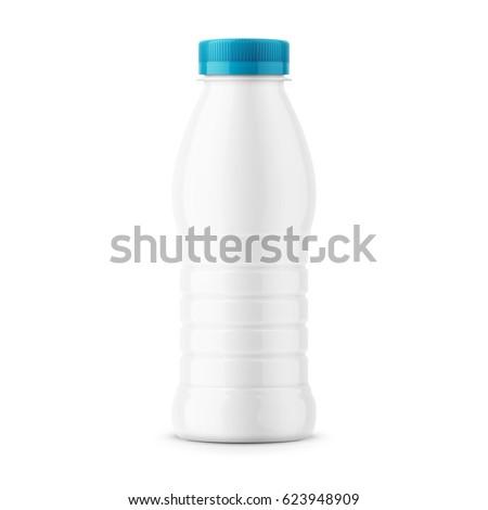 milk bottle with blue cap Stock photo © ozaiachin
