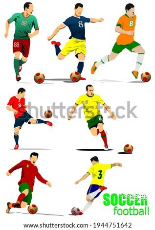 Футбол · спорт · футбола · черный - Сток-фото © leonido