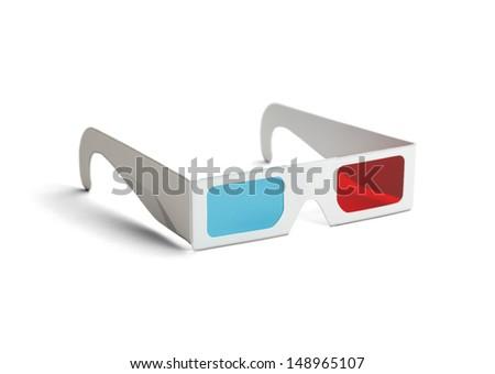 Três óculos isolado branco vidro fundo Foto stock © OleksandrO