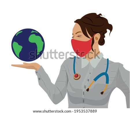 estetoscopio · mundo · blanco · médico · mundo · hospital - foto stock © photography33