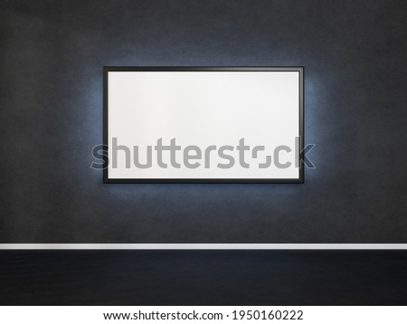 Art gallery. Wide black horizontal panel. Stock photo © photocreo