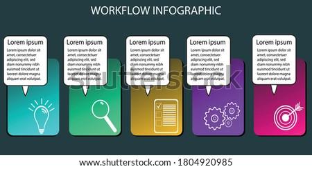 Egyszerű vektor infografika menetrend űr üzenet Stock fotó © vitek38