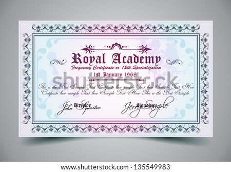 Certificate for differrent with a lot of details and filigrans. Stock photo © DavidArts