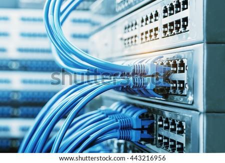 ネットワーク ケーブル スイッチ クローズアップ データセンター ハードウェア ストックフォト © kubais