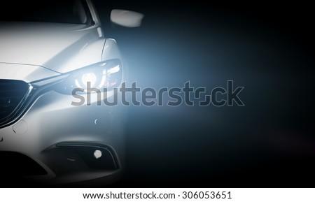 現代 · 高級 · 車 · グレー · ビジネス · 道路 - ストックフォト © Supertrooper