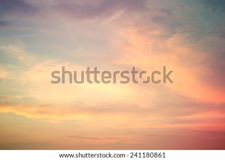 vintage image of sunset sky with dark dramatic clouds background stock photo © photocreo