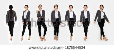 Ritratto giovani bella donna formale abito bianco Foto d'archivio © deandrobot