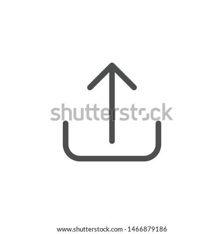 Cloud computing with previous arrow simple icon on white background. Stock photo © tkacchuk
