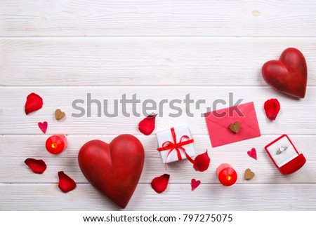 Romantic gift with Marry me? love message, valentine's day conce Stock photo © vinnstock