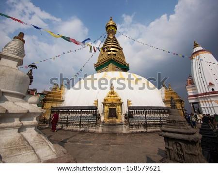 Sétál szent zarándoklat helyszín Himalája kerület Stock fotó © imagedb