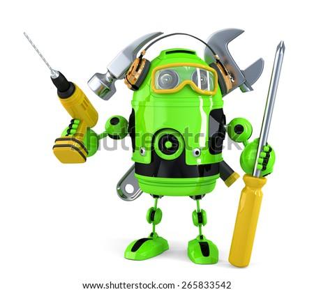 зеленый робота технологий изолированный белый Сток-фото © Kirill_M