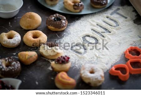 Escrita receita caseiro delicioso doce topo Foto stock © stevanovicigor