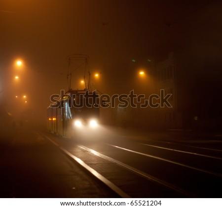 Nedves fény utcák város utca eső Stock fotó © meinzahn