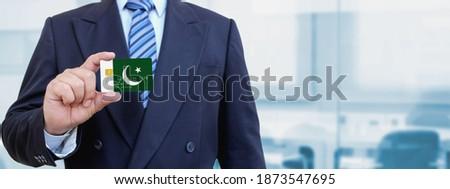 Hitelkártya Pakisztán zászló bank prezentációk üzlet Stock fotó © tkacchuk