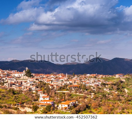 Lefkara, on the southern slopes of the Troodos Mountains. Larnac Stock photo © Kirill_M