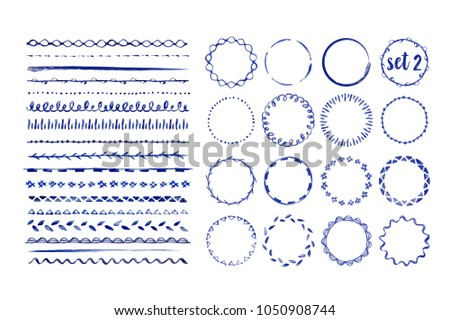 Vector Seamless Hand Drawn Horizontal Grunge Rounded Lines Pattern Stock photo © CreatorsClub