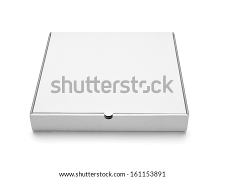 Close up of Empty carton box for pizza on white background with  Stock photo © kayros