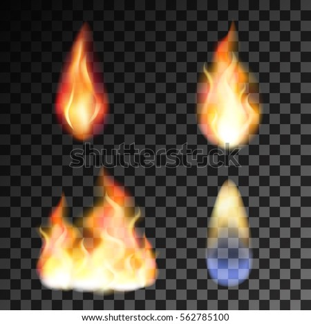 little red and blue fire Stock photo © blackmoon979