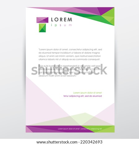 Letterhead design in paper style template vector design illustra stock photo stock vector illustration letterhead design in paper style template vector design illustration spiritdancerdesigns Image collections