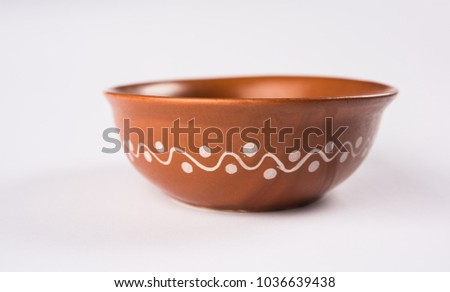 empty red clay bowl Stock photo © Digifoodstock