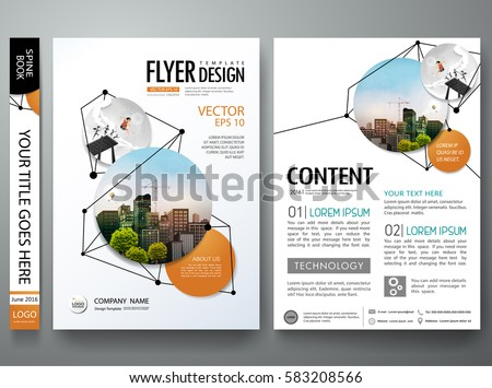 abstract minimal brochure design template size A4 in lines, geom Stock photo © SArts