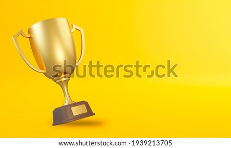 Winner cup gold. Prize of championship. Tournament award on whit Stock photo © MaryValery