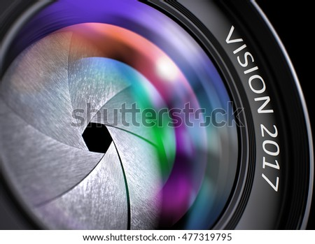 closeup professional photo lens with vision 2017 3d illustration stock photo © tashatuvango