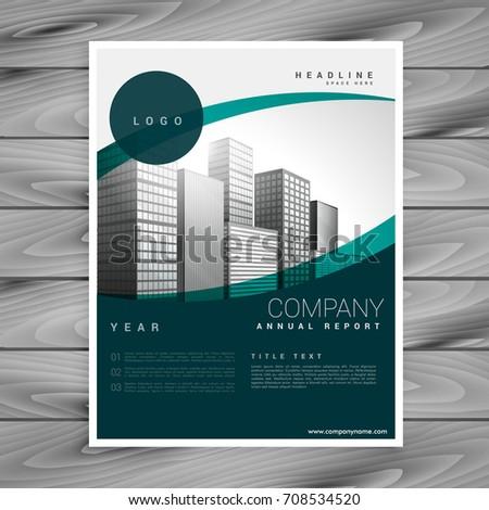 Działalności broszura szablon przestrzeni obraz biuro Zdjęcia stock © SArts