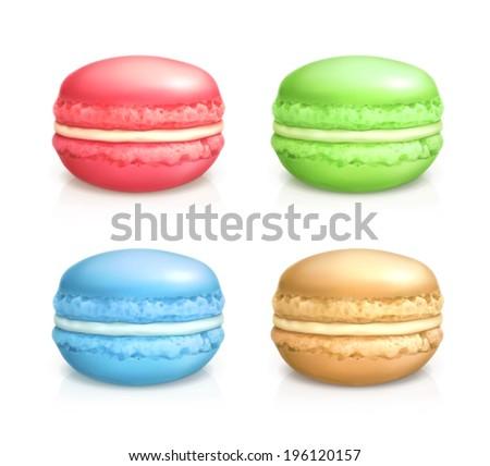 Realista macarons conjunto vetor detalhado colorido Foto stock © pikepicture