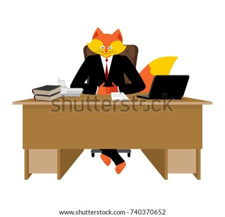 Vos zakenman baas wild sluw dier Stockfoto © popaukropa