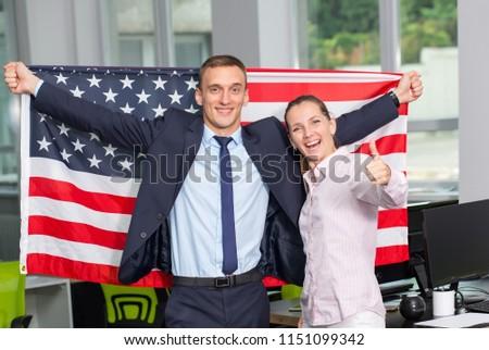 Pár mosolyog angol zászló nő futball sport Stock fotó © IS2