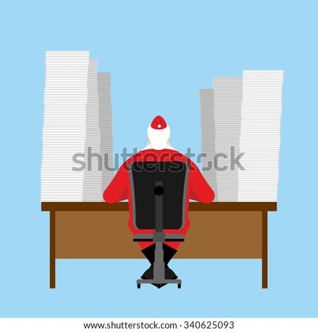 Santa Claus reads letter. Many  incoming correspondence from chi Stock photo © popaukropa