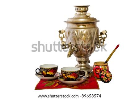赤 伝統的な ロシア 台所用品 レトロな ストックフォト © orensila