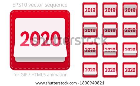 Calendar sheets 2019 Stock photo © Oakozhan