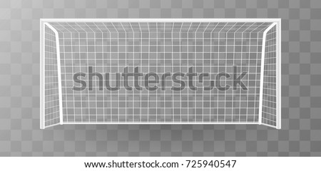 Soccer goalpost, Football goal on a transparent background. Vector Stock photo © Andrei_