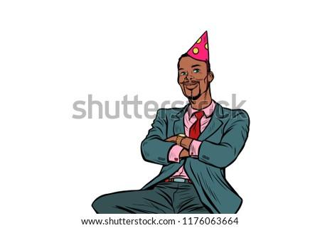 Поп-арт бизнесмен рождения летию знаменитость Сток-фото © studiostoks