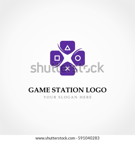 Magenta Letter X Icon with Square and Triangles Vector Illustrat Stock photo © cidepix
