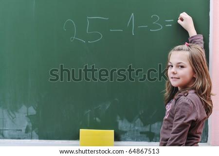 школьница математический проблема доске вектора изолированный Сток-фото © pikepicture