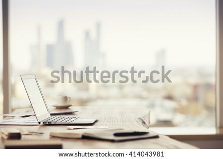 Stock fotó: Asztal · különböző · iroda · szerszámok · üzlet · asztali