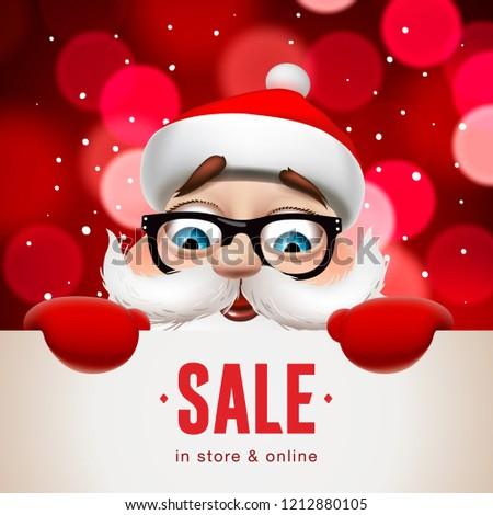 Рождества · продажи · баннер · вектора · веселый · Дед · Мороз - Сток-фото © ikopylov