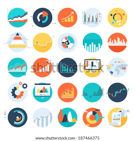 business flat icons for infographic vector illustration design stock photo © linetale