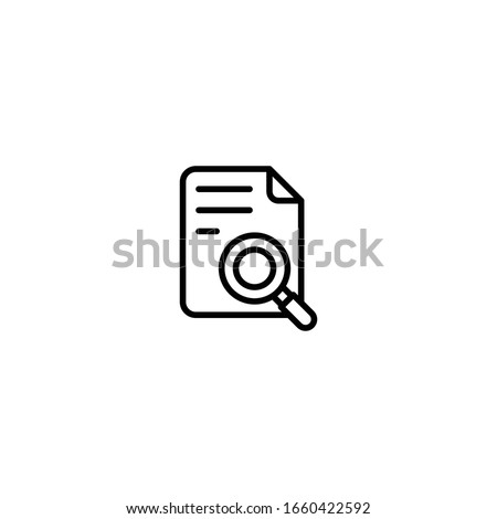 folder icon with magnifying glass in trendy flat style isolated on white background for your web si stock photo © kyryloff