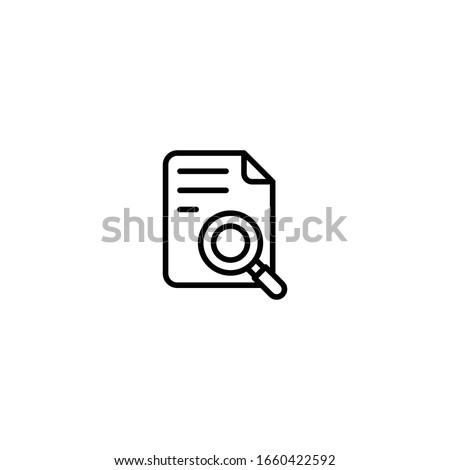 Dobrador ícone lupa estilo isolado Foto stock © kyryloff