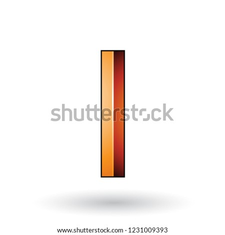 Orange Glossy Embossed Letter I with a Dark Stroke Vector Illust Stock photo © cidepix